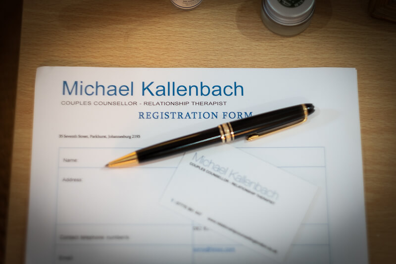 Michael Kallenbach couples counsellor form