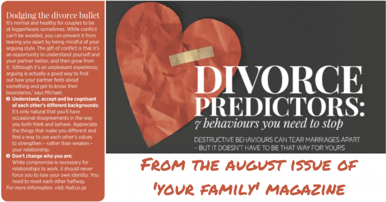 From the August issue of 'Your Family' cover