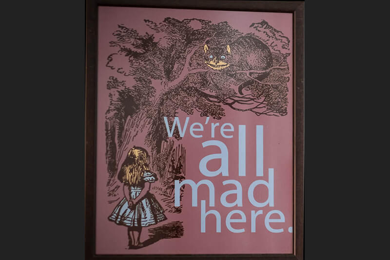 were-all-mad-here from Alice in Wonderland poster for the gallery